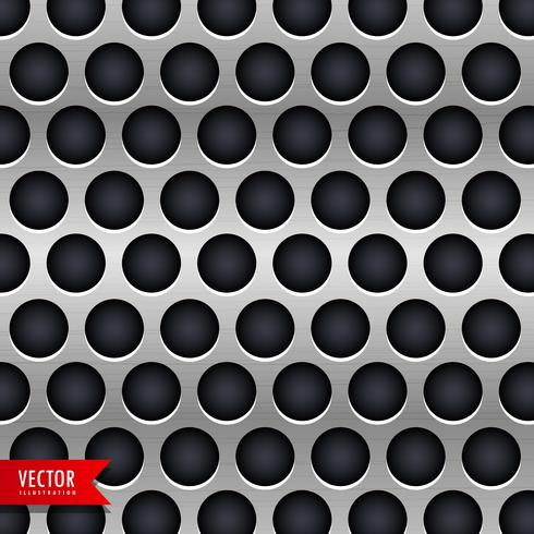 metallic chrome texture vector background with dark circles