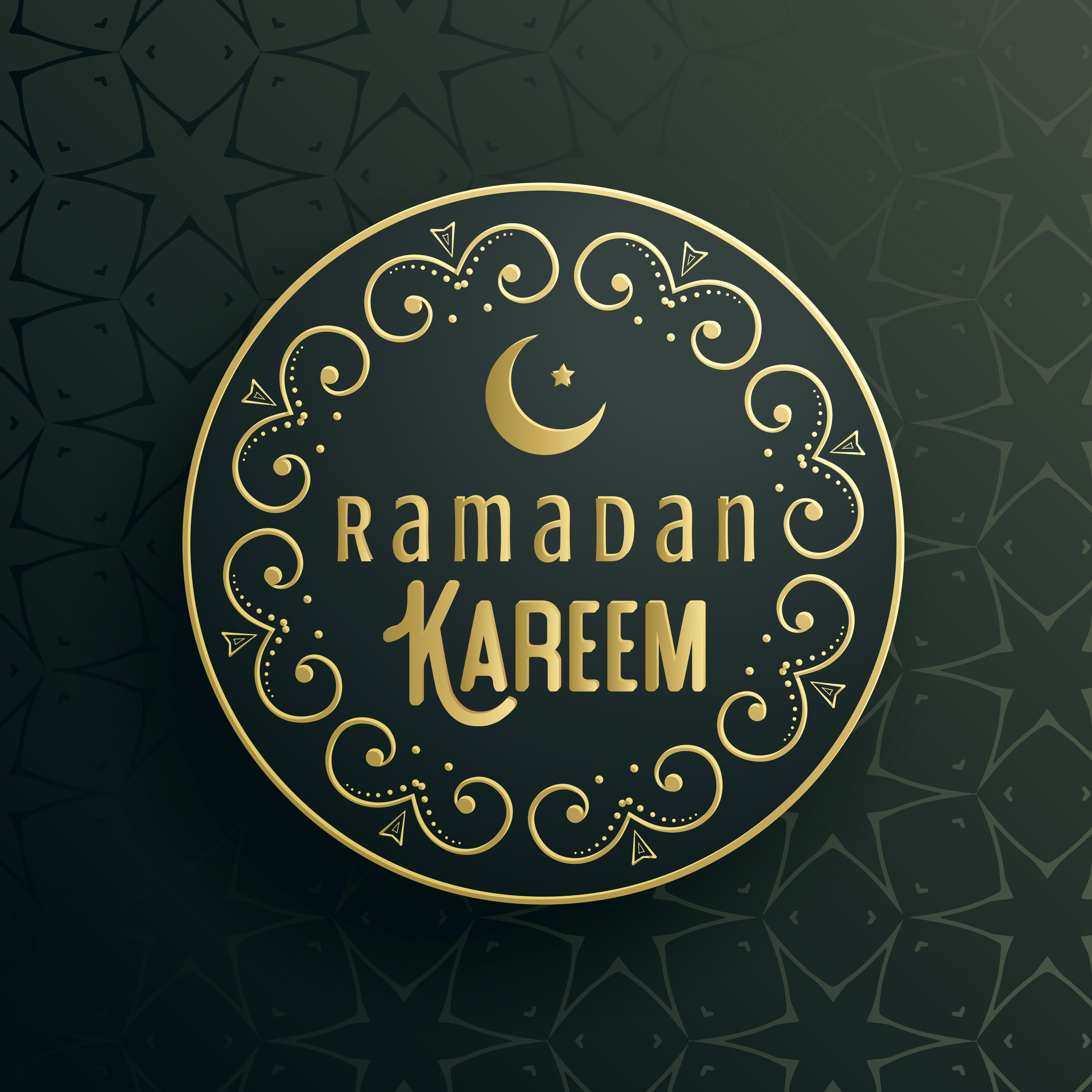 Creative Ramadan Kareem Greeting Card Vector Design Download Free
