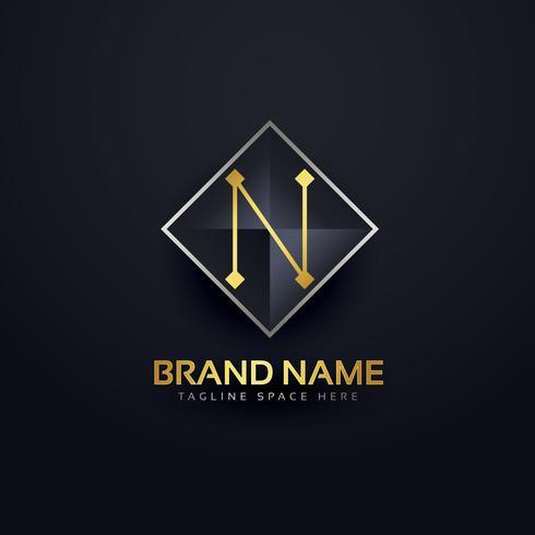 Letter N Premium logo design mall