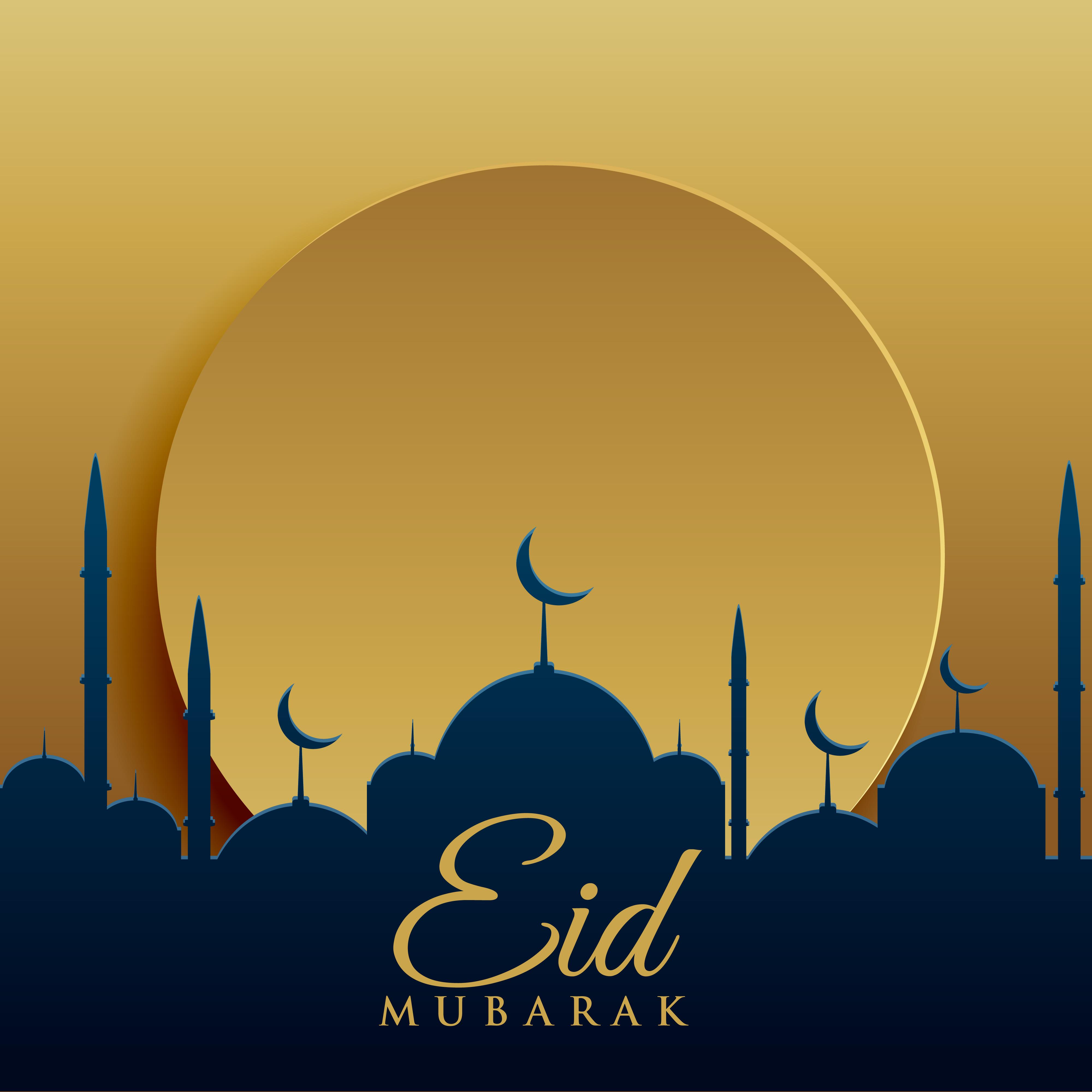 elegant eid festival greeting card design background ...
