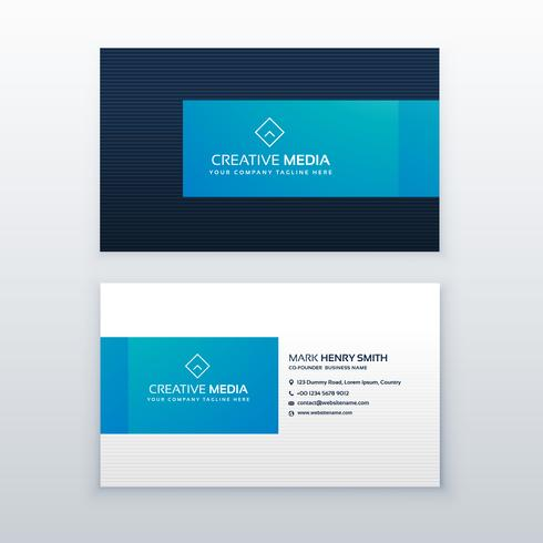 blauwe elegante visitekaartje ontwerpsjabloon
