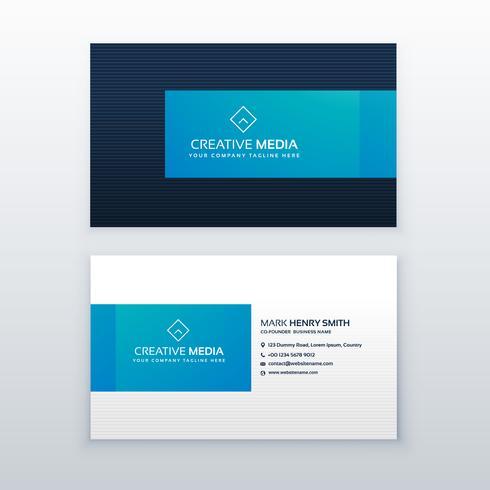 blue elegant business card design template