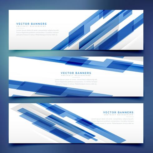 abstract blue banners and headers template