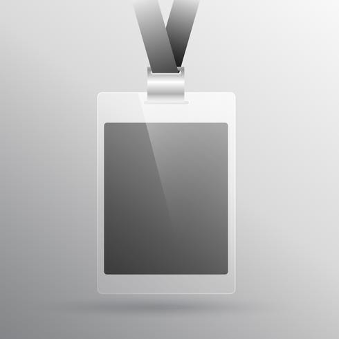 modelo de design de cartão de identificação de acesso de escritório