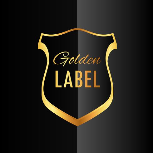 premium golden badge label symbol design