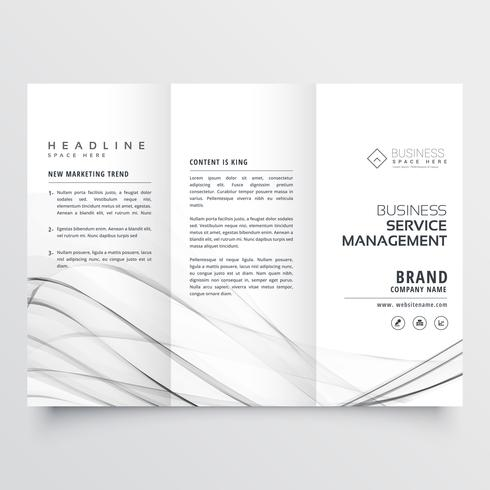 minimal tri fold brochure design template for coporate business