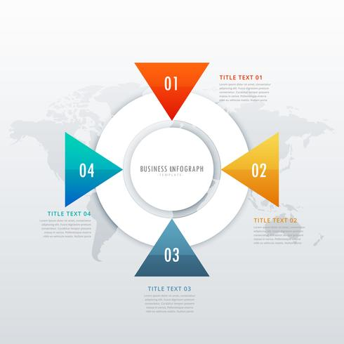 four steps infographic design for data visualization and workflo