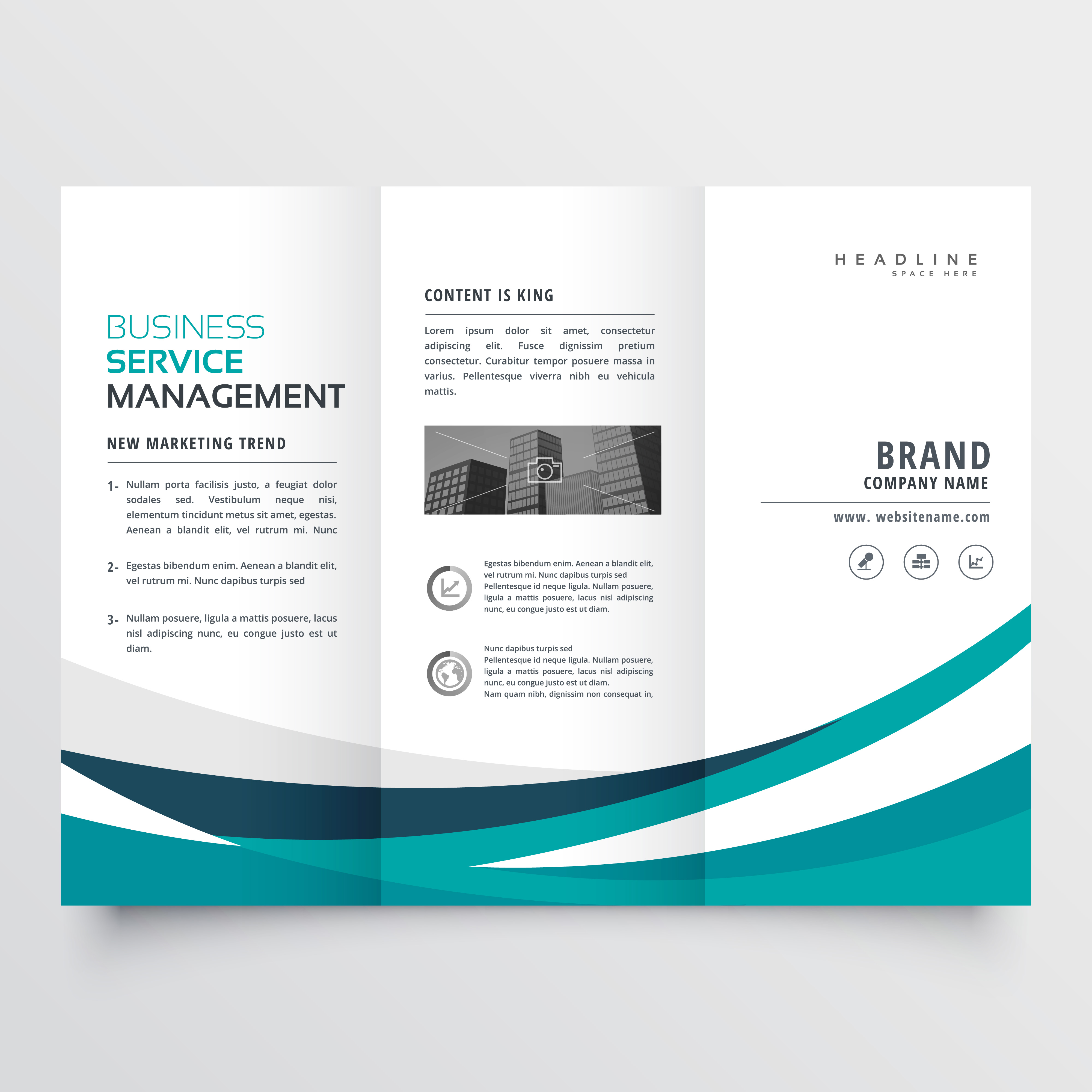 creative brochure templates free download - creative business trifold brochure design template