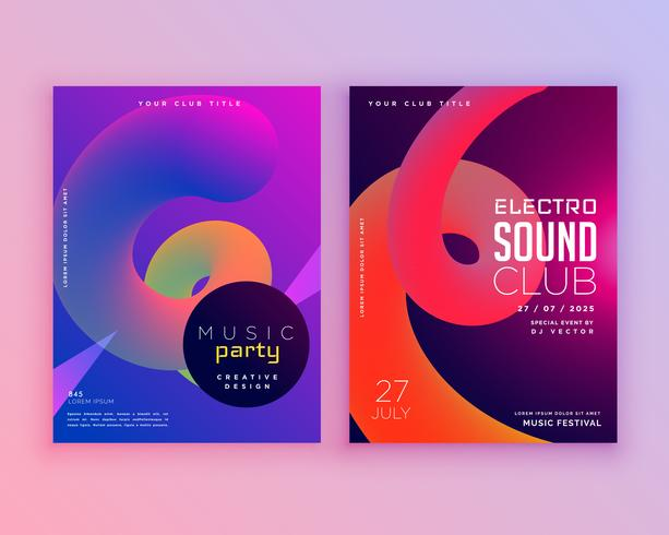 electro sound club music flyer template design