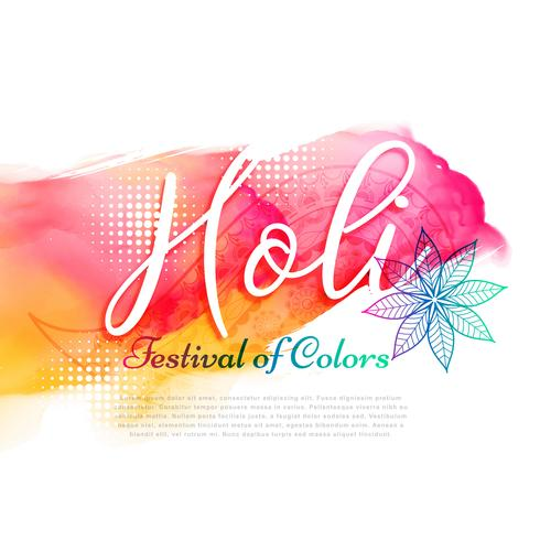 poster of indian holi festival design