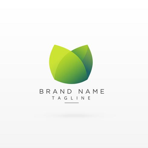 clean green logo type concept symbol design