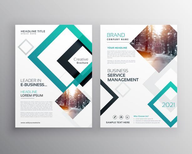 modern business flyer brochure design concept template