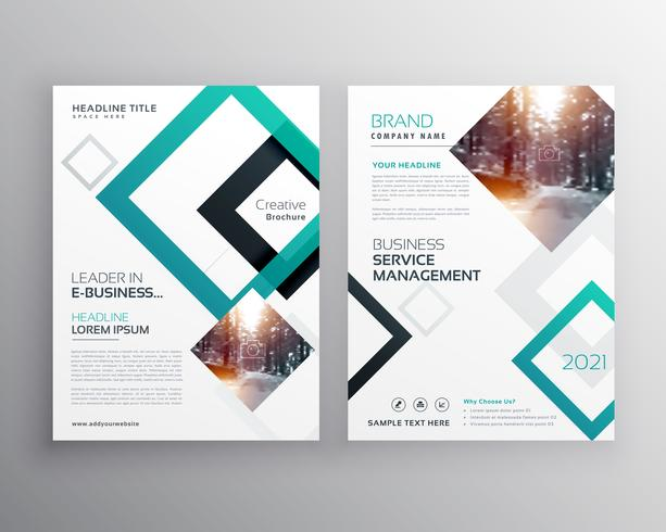 modelo de conceito de design de folheto empresarial moderno panfleto