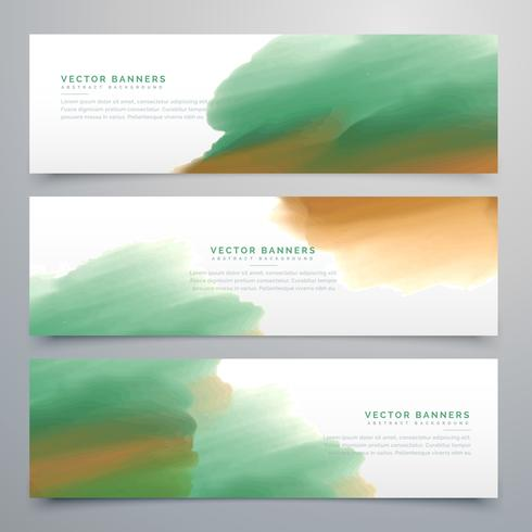 abstract web banner watercolor header design templates