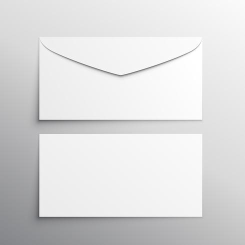 envelope front and back mockup template