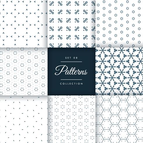 beautiful minimal pattern pack collection in 8 different styles