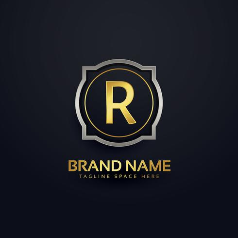 letter R luxury logo design