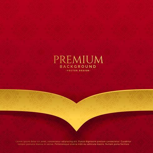 premium röd och gyllene bakgrundsdesign