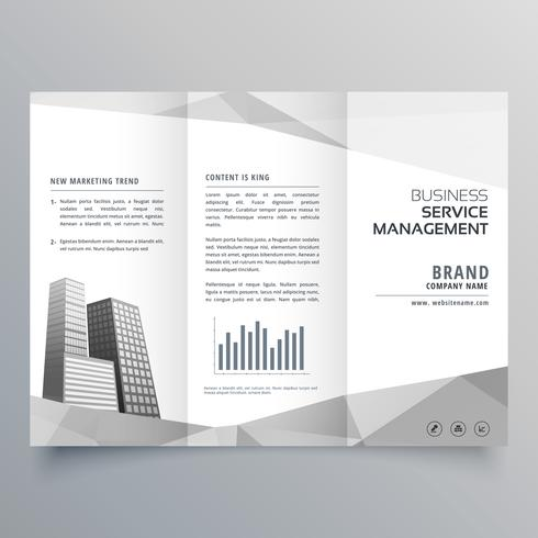 amazing trifold brochure design with business on gray geometric