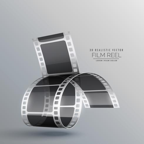 modern background with 3d realistic film strip