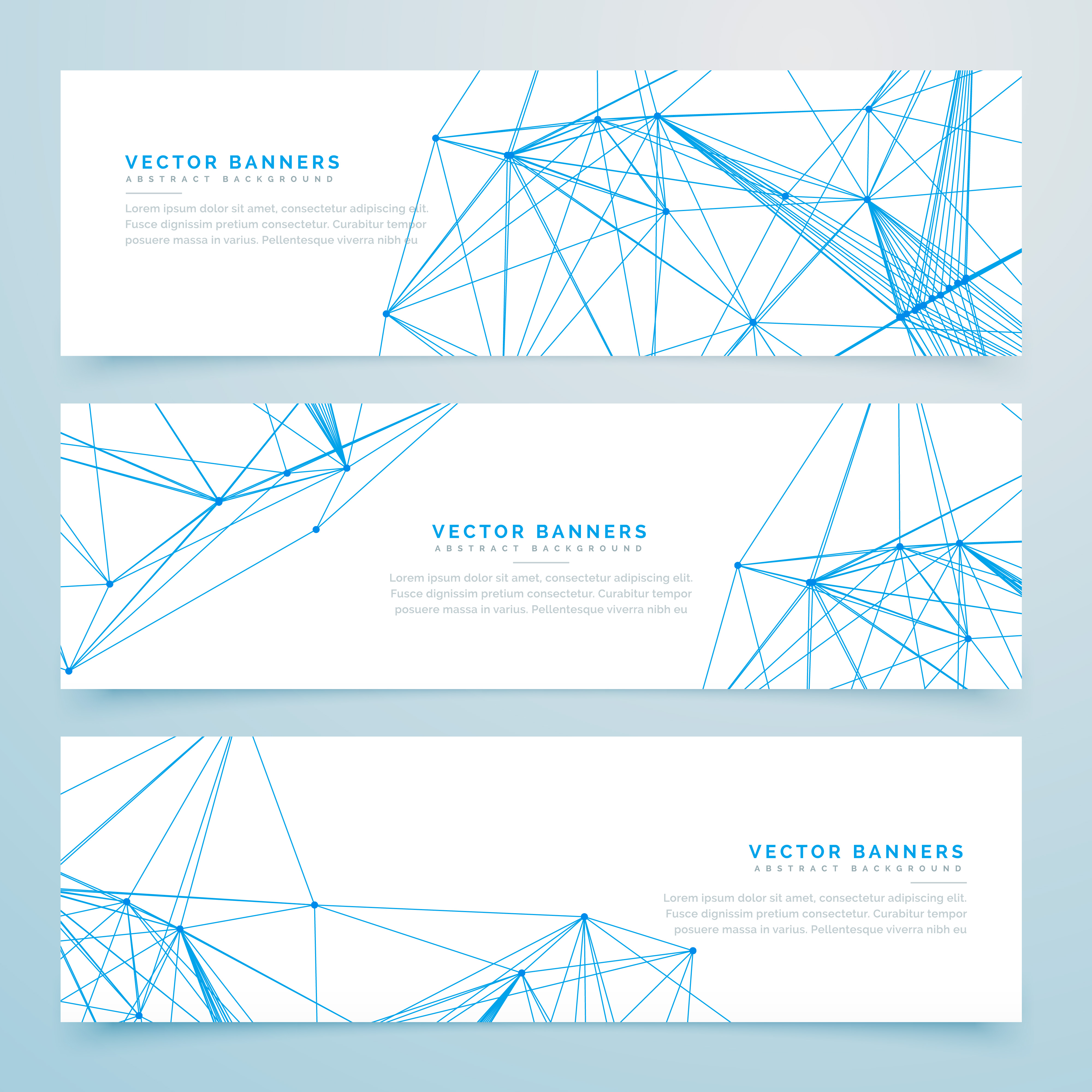 abstract digital wire mesh headers set of three banners ...