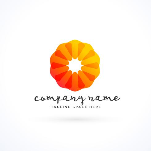 creative orange company logo concept