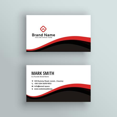 modern wavy business card design