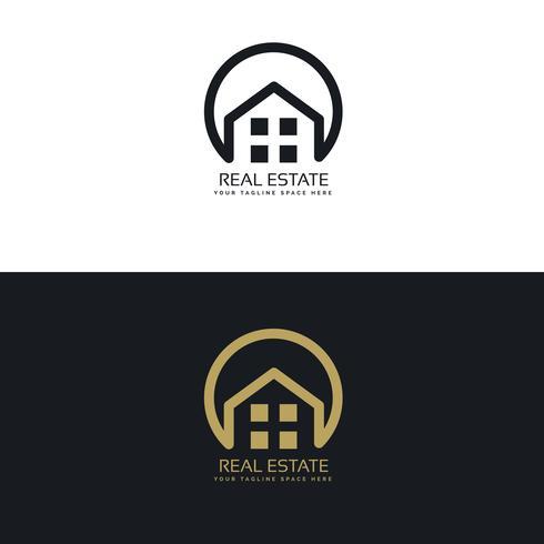 plantilla de diseño de logotipo de bienes raíces