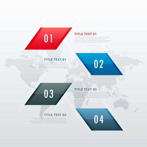 modern four steps business infographic template, can be used for