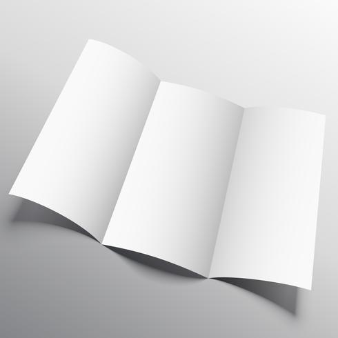 tríptico maqueta de folleto en estilo persperctive