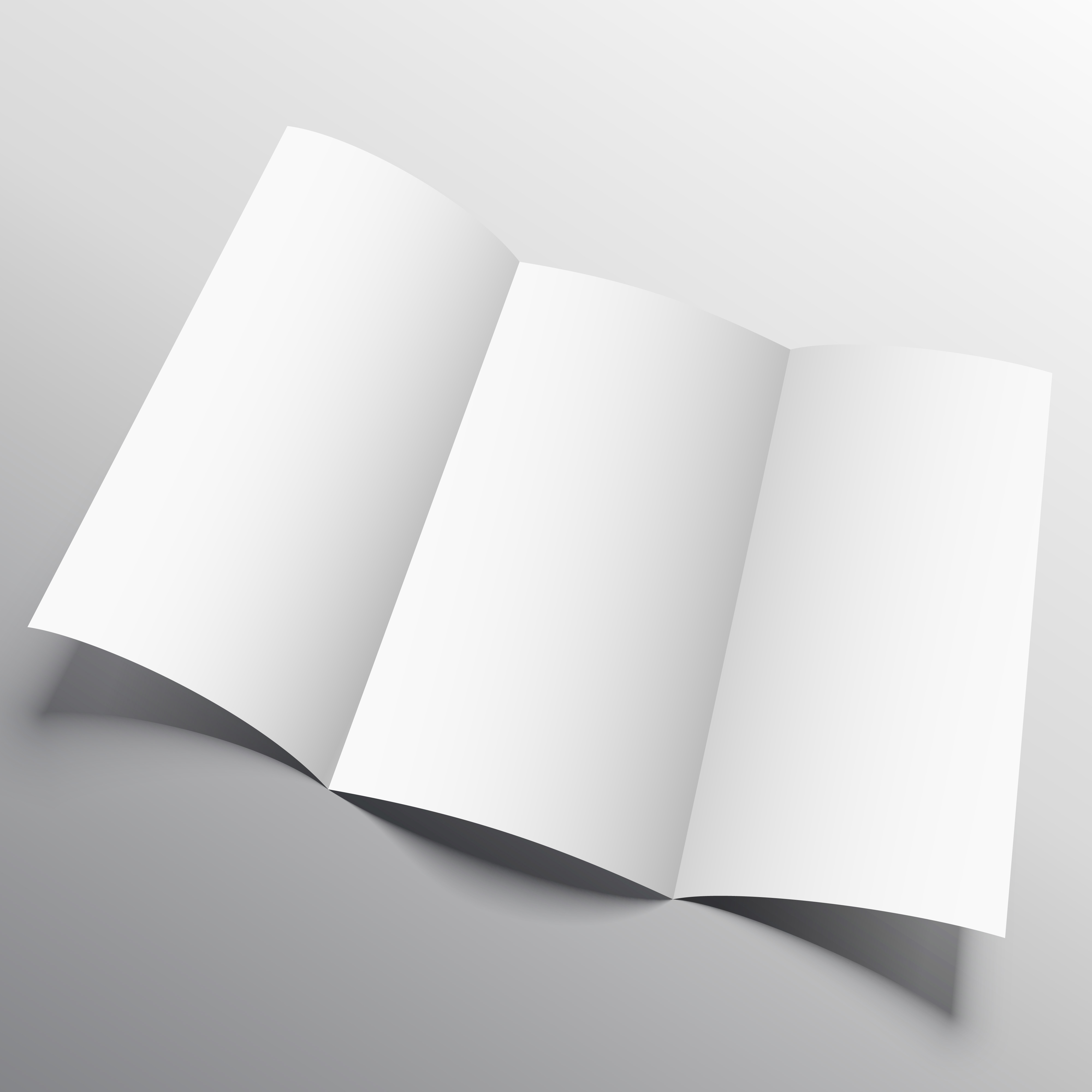 Trifold Brochure Mockup In Persperctive Style Download