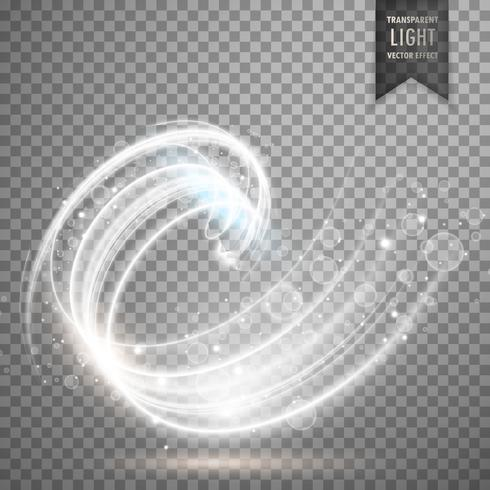 white transparent swirl light effect background