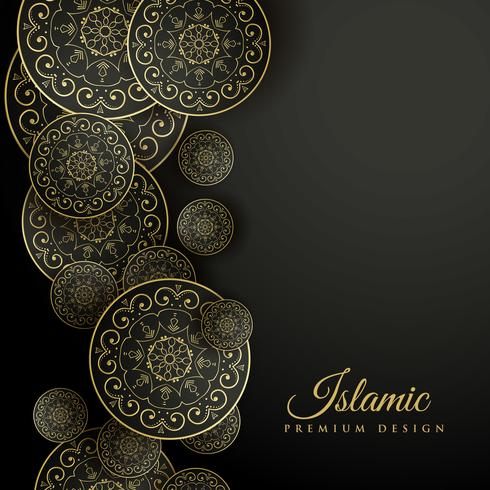 beautiful islamic background with mandala decoration