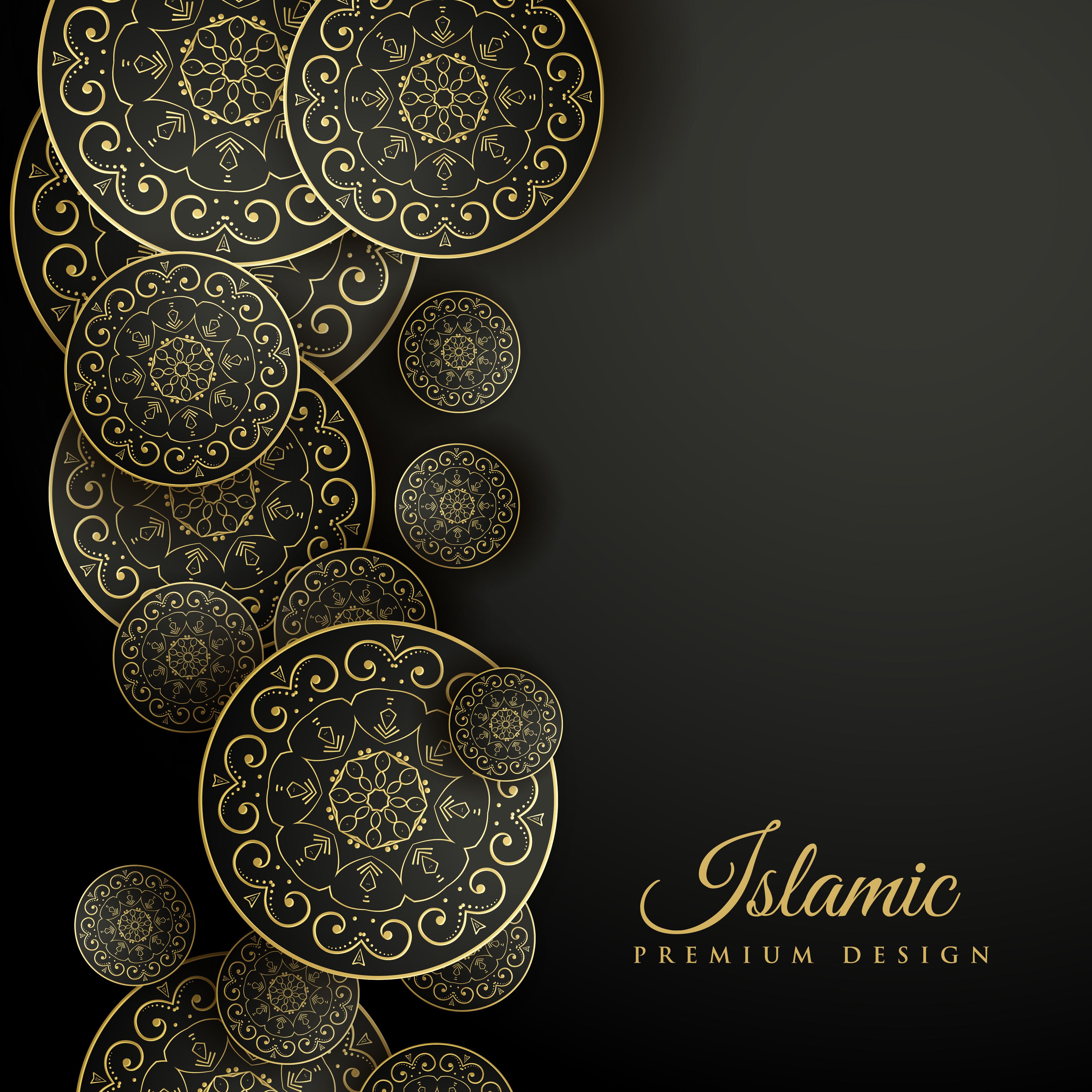 beautiful islamic background with mandala decoration ...
