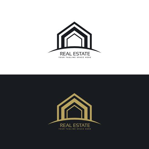 modern real estate business logo design concept
