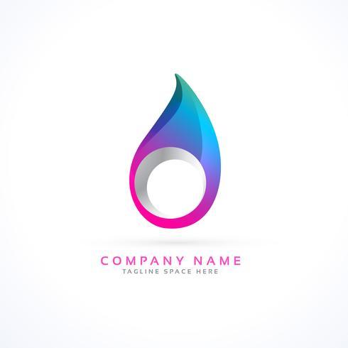 vibrant drop logo concept