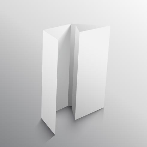four fold business brochure template design