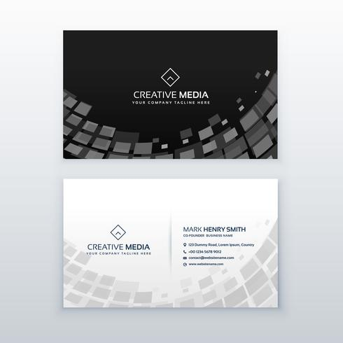 mosaic style business card design template