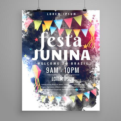 poster design for festa junina invitation