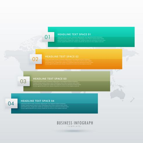 four steps infographic design for presentation and workflow diag