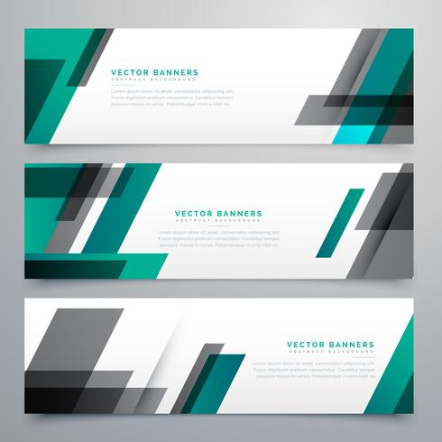 awesome business banners set made with geometric shapes