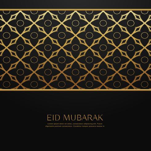 muslim eid festival bakgrund med islamiskt mönster