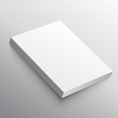 a4 paper stack mockup in 3d style