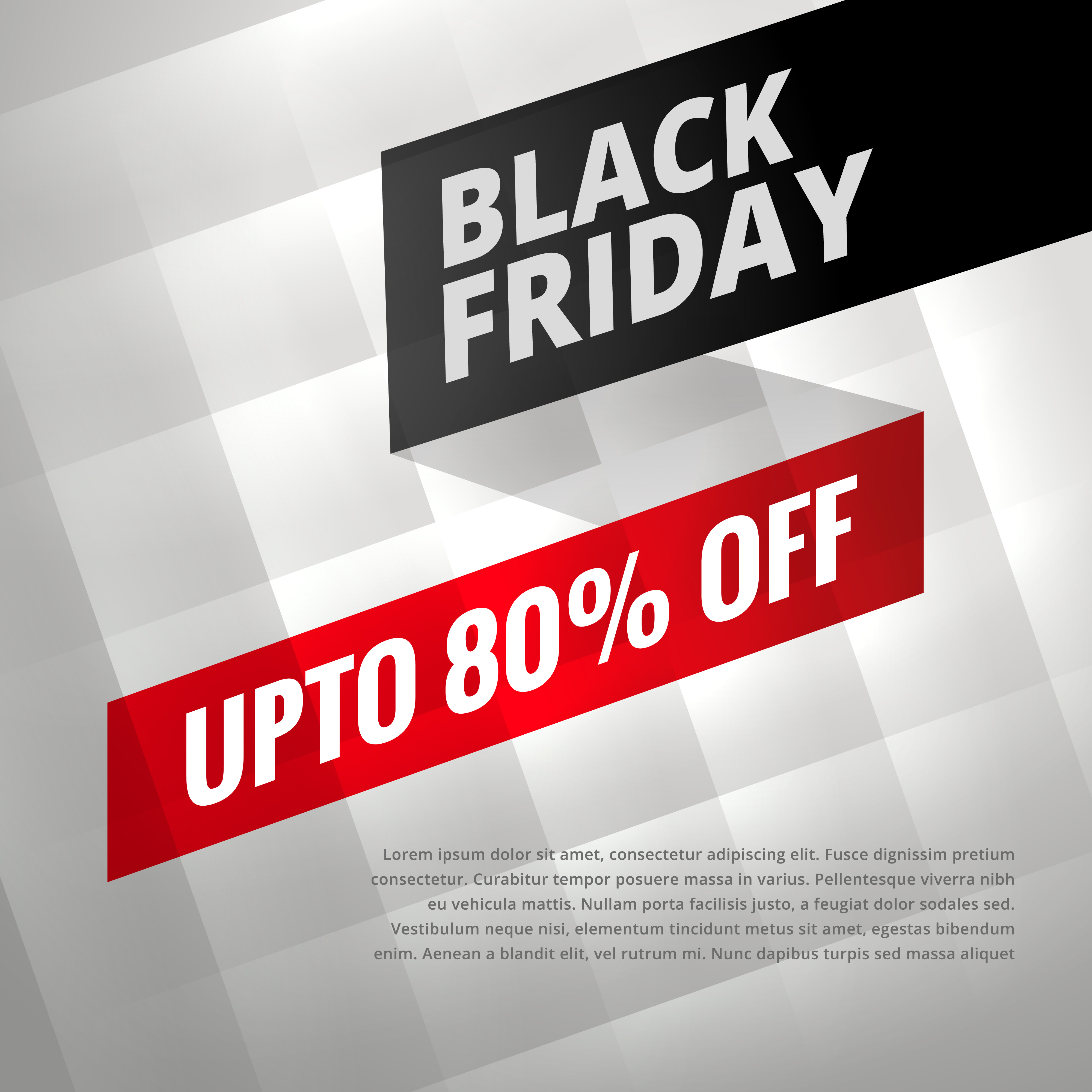 black friday sale discount poster with shiny silver