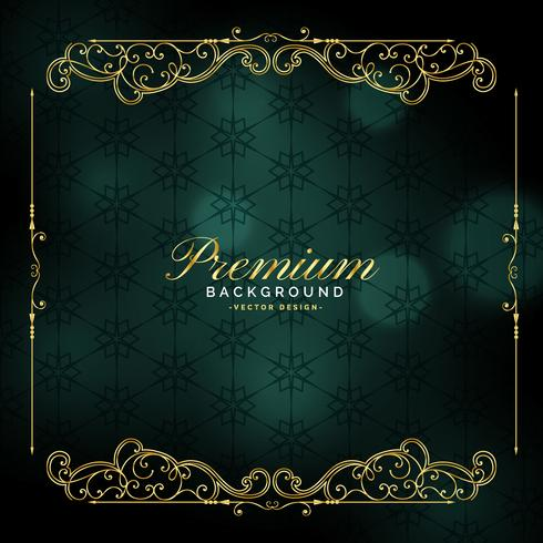 premium golden frame vintage background