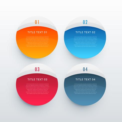 colorful infographic banners set template