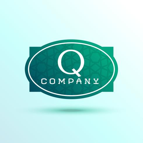 letter Q label logo design for your brand