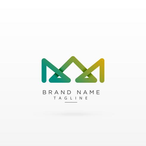 abstract crown shape logo concept design