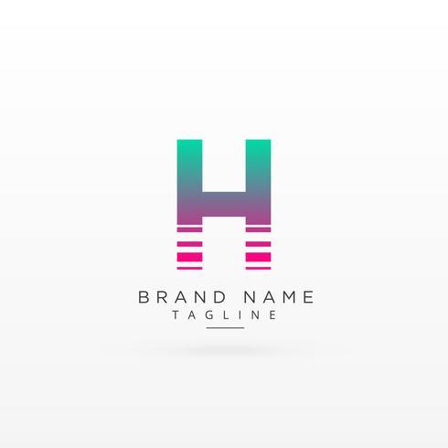 letra H logo tipo conceito design