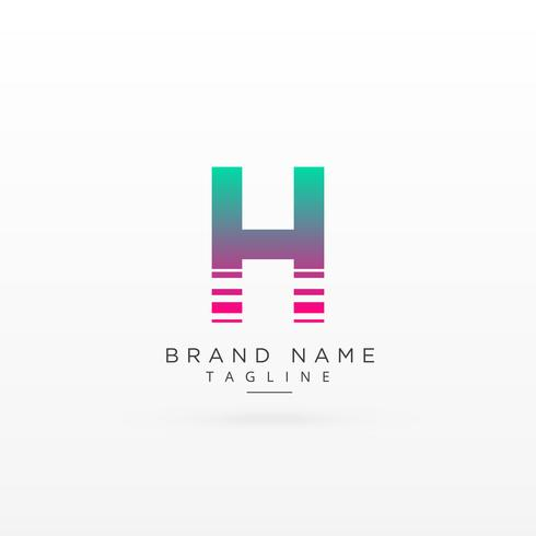 letter H logo type concept design
